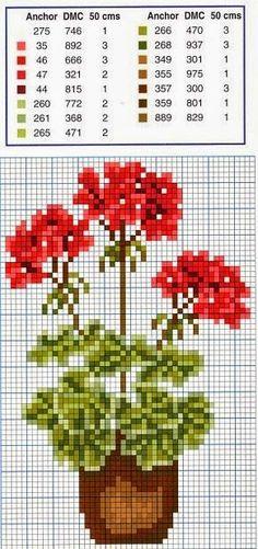 Ricamo e schemi a puntocroce gratuiti: Schermi con fiori, facilissimi