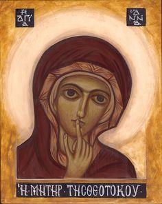 Święta Anna, deska lipowa 25x20cm  ikona inspirowana wizerunkiem Św. Anny z fresku w Faras VIII w  (obecnie w zbiorach Muzeum Narodowego w... Like Icon, Madonna, Orthodox Icons, Christian Art, Religious Art, Catholic, Art Drawings, Medieval, Art Prints