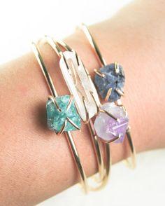 VALENTINES DAY SALE Kai cuff bracelet gemstone por kealohajewelry