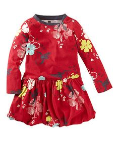 Love this Red Hummingbird Bubble Dress - Infant, Toddler & Girls on #zulily! #zulilyfinds