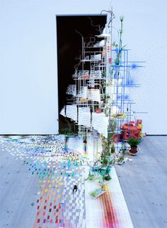 very proud and hopeful i will be able to visit her work at the Venice Biennale since she has been chosen this year!.. sarah sze. tilting planet, 2009.
