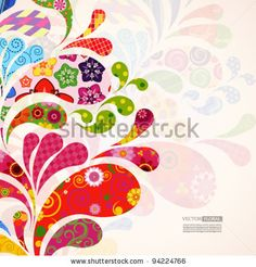 stock vector : Abstract ornamental floral background.