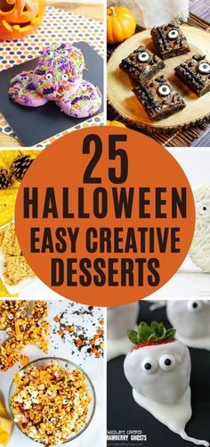 Halloween is one of the best holidays for indulging in some really amazing desserts. After all, Halloween is the holiday where treats are the main event! Read on to find some of the most delicious, festive, creative and fun Halloween Desserts to make this year! Healthy Halloween Treats, Healthy Holiday Recipes, Halloween Desserts, Healthy Dessert Recipes, Vegan Recipes Easy, Halloween Ideas, Halloween Birthday, Healthy Sweets, Sweets Recipes