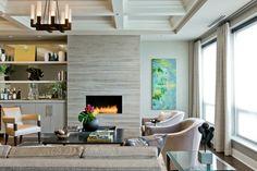 cheminée contemporaine, un joli décor moderne