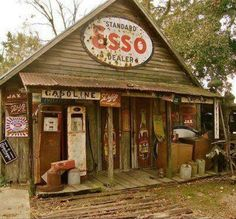 Once the heartbeat of the town - Period gas stop and general store