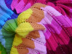 Creative Designs by Sheila Zachariae: Knitting in Technicolor Pattern is Ready