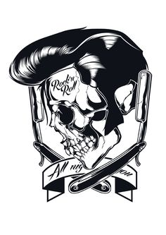 Series of illustrations with skulls in various guises.