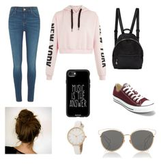 """Teenage casual day"" by paigey16 on Polyvore featuring STELLA McCARTNEY, River Island, Converse, Casetify and Christian Dior"