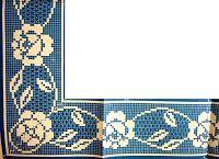 """Da revista """"Desenhos e bordados"""", duas pontas com flores.     manela"""