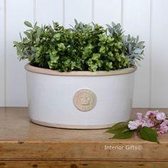 KEW-ROYAL-BOTANIC-GARDEN-OVAL-PLANTER-plant-pot-flower-BONE-chalk-or-ICE-BUCKET