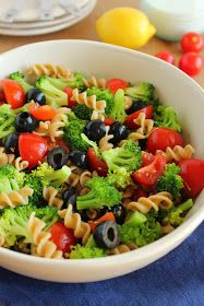 Baking with Blondie : Pasta Broccoli Salad with Creamy Lemon Dressing