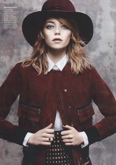 Emma Stone in Erdem for American Vogue, May 2014