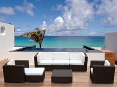 Discount for Outdoor Patio Sofa Sectional Wicker Furniture Resin Couch Set - Outdoor Patio Furniture Sofa Modern Outdoor Lounge Furniture, Outdoor Sofa, Sectional Patio Furniture, Outdoor Wicker Furniture, Outdoor Living, Balcony Furniture, Modern Furniture, Wicker Chairs, Sectional Sofas