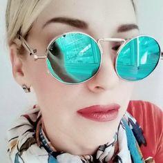 FuzWeb:Gothic Steampunk Mens Sunglasses Coating Mirrored Sunglasses Women Round Circle Retro Vintage Gafas de sol Masculino