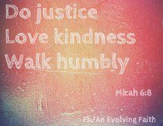 Do justice.. www.facebook.com/AnEvolvingFaith