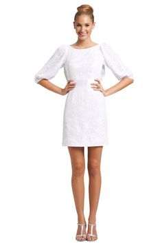 What a gorgeous, classy white dress! We love this Weddington Way Little White Dress look for your bridal shower.