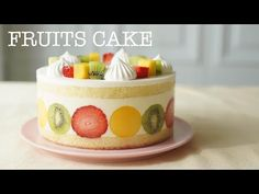 Comment faire un gâteau aux fruits./과일 생크림 케이크/ How to Make Fruits Cake. Fruit Cake Watermelon, Fruit Cakes, Dessert Mousse, African Dessert, Asian Cake, Bisquick Recipes, Asian Desserts, Wonderful Recipe, Sweet Cakes
