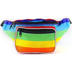 SoJourner Bags Fanny Pack (900 RUB) ❤ liked on Polyvore featuring bags, rainbow bag, bum bags, hip fanny pack, fanny pack bags and waist bags