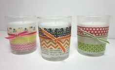 Fun with Washi Tape - Washi Votives