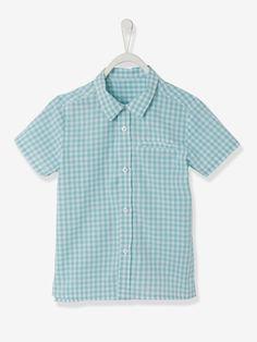 Boys Short-Sleeved Shirt - printed white, Boy