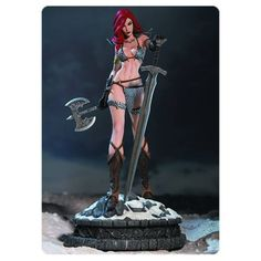DEAL OF THE DAY Women of Dynamite Red Sonja Diamond Eye Edition Statue: The She-Devil with a Sword, poised on a snow-covered battlefield, has never looked so majestic! Limited edition of 99 pieces and is hand-painted on cold-cast porcelain with ABS details.  TO BUY CLICK ON LINK BELOW http://tomatovisiontv.wix.com/tomatovision2