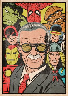 An illustrated tribute to Stan Lee and his career. #RIPStanLee #ATrueMarvel #StanLee #Marvel Ava Avatar