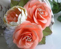 Ramilletes de flores flores de papel bodas por morepaperthanshoes