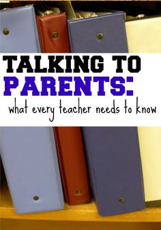 Talking to Parents: What Every Teacher Needs to Know in order to connect effectively with parents this year. | me, for @Scholastic