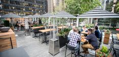 The enormous patio at this Financial District pub matches the huge range of beer options poured here from 50 taps. Chill under unique umbrellas for a fun work lunch or end-of-day reward. End Of Days, Fun At Work, Taps, Toronto, Chill, King, Patio, Outdoor Decor, Faucets