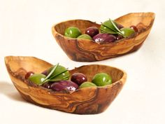 Olive Wood Small Oval Bowl (Set of Two) :)