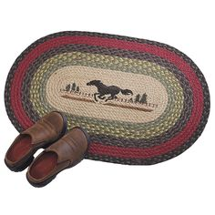entry Braided Horse Rug 30X20 Oval - Western Wear, Equestrian Inspired Clothing, Jewelry, Home Décor, Gifts