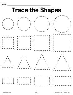 3 Tracing Shapes Worksheets - Smallest to Largest - FREE tracing shapes worksheet – circles, squares, triangles, and rectangles plus two additional shapes tracing worksheets included! Get all three here –> www. Shape Worksheets For Preschool, Shapes Worksheet Kindergarten, Alphabet Tracing Worksheets, Shapes Worksheets, Preschool Learning Activities, Free Preschool, Preschool Shapes, Learning Skills, Pre K Worksheets