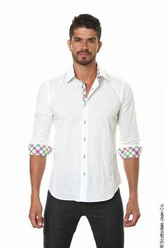 Jared lang shirts - White designer shirt for men New Mens Fashion, Holiday Fashion, Spring Fashion, Ag Jeans, Alternative Outfits, Summer Collection, Shirt Style, Winter Outfits, Shirt Designs