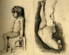 Seated Girl and Venus by Vincent van Gogh Medium: pencil on paper