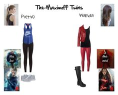 """Pietro and Wanda Maximoff"" by optimistic-princess-rebel ❤ liked on Polyvore featuring NIKE, Quiksilver, Yves Saint Laurent, Juvia, Fahrenheit and Balenciaga"