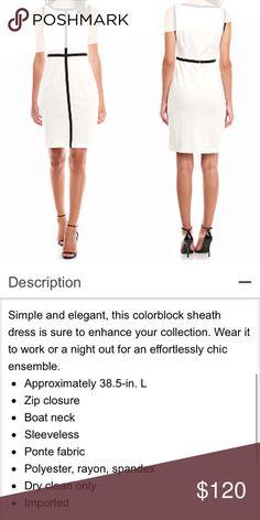 Selling this Calvin Klein Color Block Sheath Dress on Poshmark! My username is: infinitelyposh. #shopmycloset #poshmark #fashion #shopping #style #forsale #Calvin Klein #Dresses & Skirts