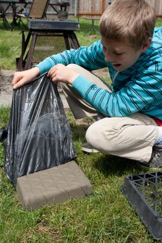 Concrete stepping stones...summer project