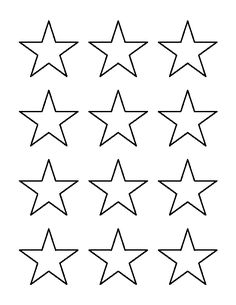 Multiple sizes of star template pages on this site