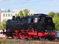 Dampflok 64 317 - Bubikopf - der Deutschen Reichsbahn von hinten am 03.09.2014 im Detail.