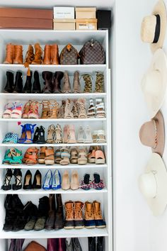 Gorgeous shoe collection: http://www.stylemepretty.com/living/2016/07/18/15-of-the-most-envy-inducing-shoe-closets/