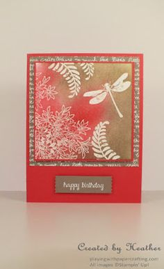 Playing with Papercrafting: Asian Ambiance with Awesomely Artistic Butterfly Cards, Flower Cards, Asian Crafts, Birthday Cards, Happy Birthday, Stampin Up, Card Making, Greeting Cards, Paper Crafts