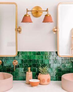 Modern bathroom design 279223245634605362 - Double Kelly Sconce – Sazerac Stitches Source by faraway_places_ Ideas Baños, Decor Ideas, Decorating Ideas, Decorating Websites, Tile Ideas, Small Bathroom, Modern Bathrooms, Bathroom Ideas, Master Bathroom