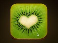 by Alex Pronsky. Heart visions!! Kiwi artesanal digital