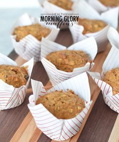 How to Make Healthy Morning Glory Muffins Healthy Muffin Recipes, Healthy Muffins, Healthy Sweets, Healthy Snacks, Breakfast Recipes, Bakery Recipes, Cooking Recipes, Morning Glory Muffins, Food Network Canada