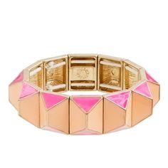 Pyramid stretch bracelet - J. CREW