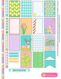 FREE Printable Easter Stickers for Happy Planner and Erin Condren Life Planner by Cutedaisy