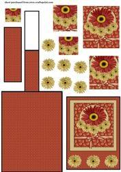 Spice Floral schildersezel Card 1
