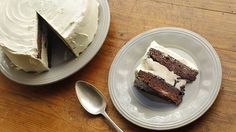 Boxed brownie mix makes this cake super simple!  Brownie Ice Cream Cake
