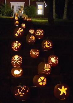 coastal/nautical pumpkins