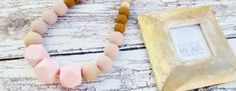Silicone Necklace Teething Necklace/ Tula by InBetweenTheRaindrop